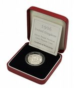 1996 Silver Proof Piedfort One Pound